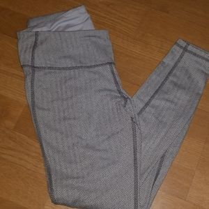 Grey and white workout leggings